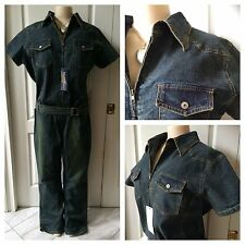 WOMENS PLUS JUMPSUIT DENIM 2X ROSIE RIVETER COSTUME JEANS ROMPER FALL NEW TAGS
