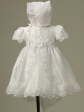 Baby Infant Christening Baptism gowns Dress Bonnet Free Outfit NKCB567