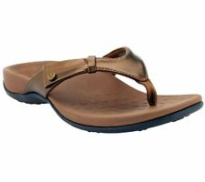 Vionic by Orthaheel Carolyn Orthotic Thong Bronze Sandals