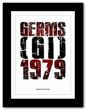❤  Germs - (GI) - 1979  ❤ Albums That Built Punk typography poster art print