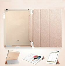 Slim Magnetic Leather Skin Cover With Hard Back Case Cover For Apple iPad2/3/4