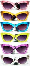 Womens Translucent See Through Color Cat Eye Pinup Vintage Style Sunglasses 55TM