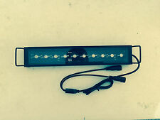 "Aquarium LED Light Bar 10"" ReefBar Pro 50/50 Blue/12k 10x 3W Bridgelux 5 10 gal"
