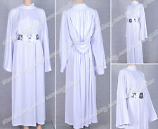 Star Wars Cosplay Princess Leia Costume Gown Robe Organa White Dress Good Sell