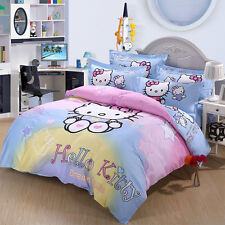 ** Hello Kitty Dream House Queen Bed Quilt Cover Set - Flat or Fitted Sheet **