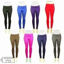 Womens Leggings Fitted Pants Gym Yoga Stretchy Spandex Tight Warm Winter Colors