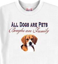 All Dogs are Pets Beagles are Family - Dog T-Shirts White - 5 Colors