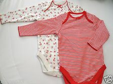 NEW 2 Next Baby Girls or Boys Bodysuit Cotton Vests 6-9 Months Choice of designs