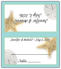 Beach - Personalized Tented Custom Place/Escort Cards - Wedding/Shower/Birthday