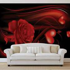 WALL MURAL PHOTO WALLPAPER PICTURE (300PP) Red Hearts Art Abstract
