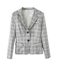 CHIC Fashion Slim Fit Women's Lady Checked Office Work Blazer Suit Coat Jacket