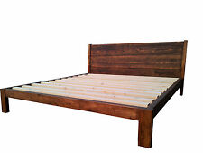 Contemporary Wooden Single Double King Super Bed Frame