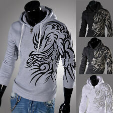New Mens Slim Fit Designed Hooded Jacket Coat Casual Sweatshirt Hoodies Ouwear