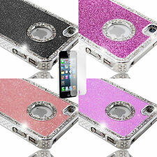 Diamante Glitter Bling hard case cover for apple iphone 4s + Screen Protector