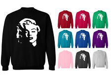 Womens Marilyn Monroe Face Hollywood Movie Icon Pullover Hoodie NEW UK 12-20