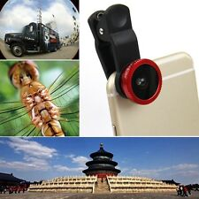 3in1 Clip On Camera Lens Fisheye + Wide Angle + Macro for iPhone Samsung HTC LG