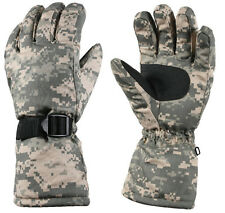 ACU Digital Camo Extra Long Wrist Thermoblock Insulated Lined Winter Gloves