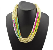 2014 HOT fashion European style Multilayer enamel Snake Chain Necklace