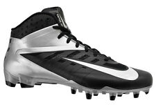New NIKE Vapor Pro 3/4 TD Mens Football Cleats - Black / Silver - $95msrp
