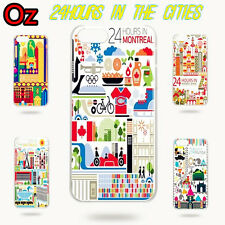 24 Hours in Cities Cover for HTC One M8, Unique Design Case WeirdLand