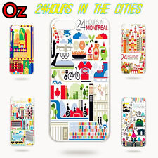 24 Hours in Cities Cover for iPhone 5C, Quality Unique Design Case WeirdLand