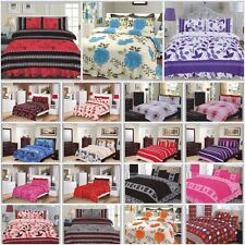 Luxury 4 Pcs Complete Bedding Set Duvet Cover With Valance Sheet & 2 Pillowcases
