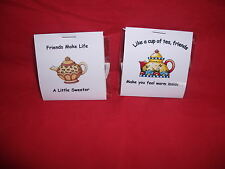 Friendship Tea Bag Gift Card Personalised   Best Friend,Mum,Dad,Anyone/ Occasion