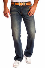 Herrenjeans Bootcut-Jeans Mustang Oregon Boot 'Tinted Rinse Washed' 100% Cotton