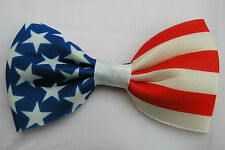 USA Bow Tie American Flag Stars Stripes Kids Adult Fancy Dress Costume 4th July