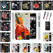 Motorola Phone Models Snap on Image Custom Slim Fitted Hard Case Cover Flowers