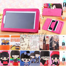 "For Universal Android Tablet 7"" 8"" 9"" 9.7"" 10"" Folio Cartoon Leather Case Cover"