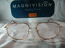 Magnivision Aero Brown Tortoise Aviator Reading Glasses +1.75 2.25 2.75 3.25