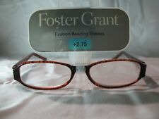 Foster Grant Womens Brown Tortoise Fashion Reading Glasses  +1.25 1.75 2.25 2.75