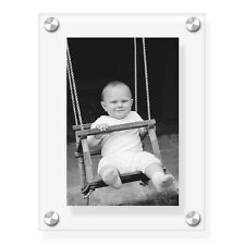 """8""""x6"""" acrylic wall holder/picture frame for your photos with printing service"""