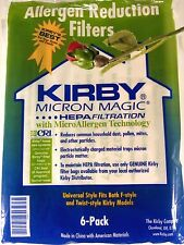 GENUINE Kirby Vacuum White Cloth Hepa Filter Allergy Disposable Bags UNIVERSAL