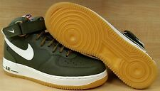 [315123-203] MEN'S AIR FORCE 1 MID '07 UPTOWN OLIVE GREEN-SAIL GUMS SOLE 8.5-13