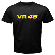 New Valentino Rossi VR 46 Logo Yamaha Moto GP Men's Black T-Shirt Size S to 3XL