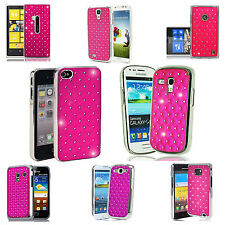 Hot Pink diamante Case Cover for Various Mobile Phones