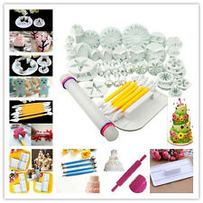 Sugar craft Cake Decorating Fondant Molds Icing Plunger Cutters Tools mould Sets