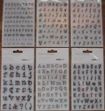 (U Choose) 6 Alphabet Font Script & Date STAMP Sets Scrapbooking Card Stamping