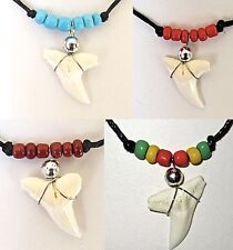 REAL TIGER SHARK TOOTH PENDANT NECKLACE NEW JAW TEETH MEN WOMEN SURFER BOY GIRL