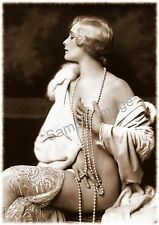 Vintage 67 1900's Erotic Female Nude Sepia Retro PHOTO REPRINT Art Deco Giclee