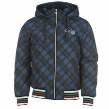 MENS NAVY BLUE CHECK EVERLAST BOXING GYM THICK WINTER JACKET COAT