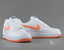 Nike Air Force 1 One Classic Sneakers New, White Atomic Red (Peach) 488298-131