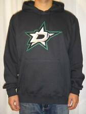NWT Majestic Dallas Stars NHL Men's Felt Tek Patch Hooded Sweatshirt - Black