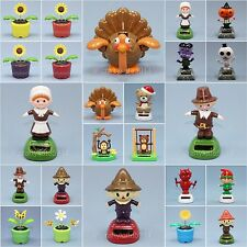 Solar Dancing Flip Flap Solar Dancers Flower Pilgrim Turkey Skeleton Pumpkin Elf