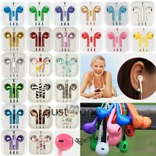 3.5mm In-ear Control Remote Stereo Headsets Volume Mic For iPhone 5/5S 5C iPod