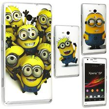 Lovely Minion TPU Gel Skin Back Case Cover For Sony Xperia SP