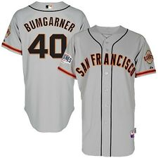 Madison Bumgarner 2014 SF Giants Authentic World Series Cool Base Road Jersey