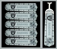 NFL OAKLAND RAIDERS TEAM NAME & LOGO CEILING FAN REPLACEMENTS BLADES (5 BLADES)
